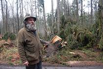 Takovou spoušť natropil orkán v lesích na Domažlicku.