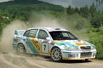 Karel Trněný se svou Škodou Octavia WRC