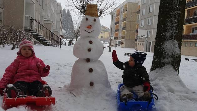Zimní radovánky ve Kdyni.