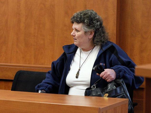 Zlata Trykarová u domažlického soudu.