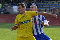Snímek z utkání Jiskra Domažlice - SK Benešov (2:2).
