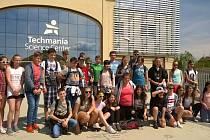 Žáci z kdyňské školy se svými kolegy z Německa a Lucemburska navštívili i plzeňskou Techmanii.
