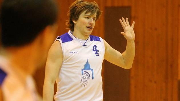 Domažličtí basketbalisté cestují k prvnímu utkání nadstavby do Havířova. Na snímku je Jakub Tauer.