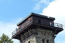 Vrchol Kurzovy věže na Čerchově.