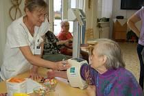 Den pro zdraví v domažlickém městském penzionu pro seniory.