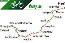 Trasa Cyklobusu Český les.