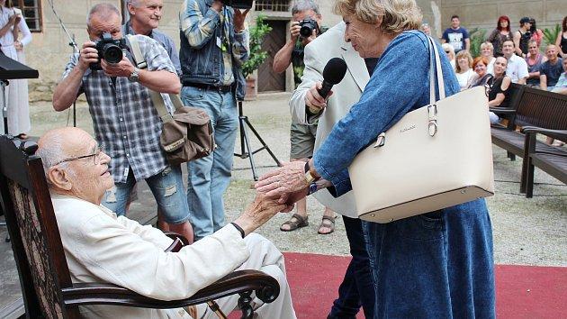 Oslava 88. narozenin režiséra Václava Vorlíčka v Horšovském Týně.