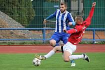 Zápas proti rezervě druholigového Táborska Martinovi Hrubému ´sedl´.  Dva góly dal, na další nahrál.