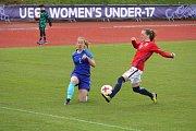 ME v fotbalu žen do 17 let v Domažlicích.