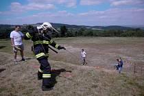 Železný hasič v Dílích.