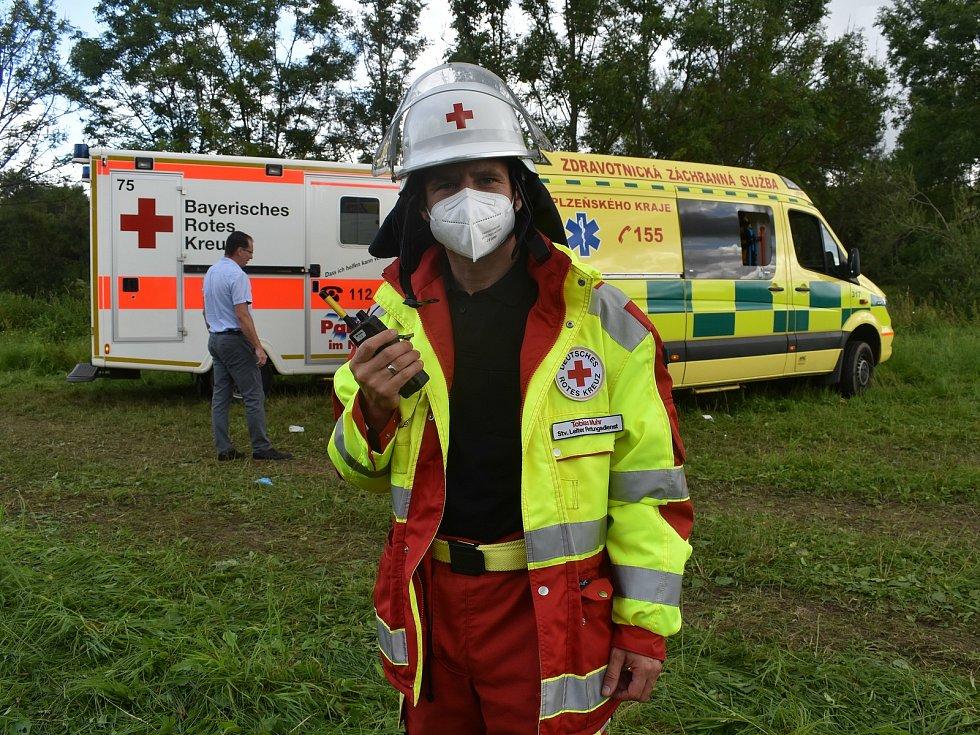 Tobias Muhr z Bavorského Červeného kříže.
