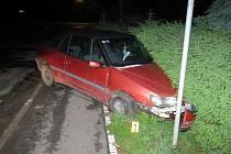 Nehoda v Srbech.