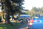 Vlaková nehoda se stala těsně za nádražní budovou ve Kdyni.