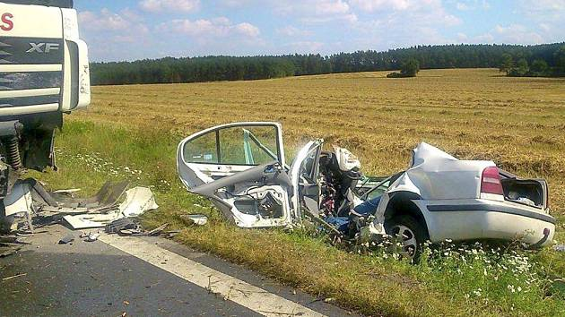Tragická nehoda mezi Holýšovem a Stodem.