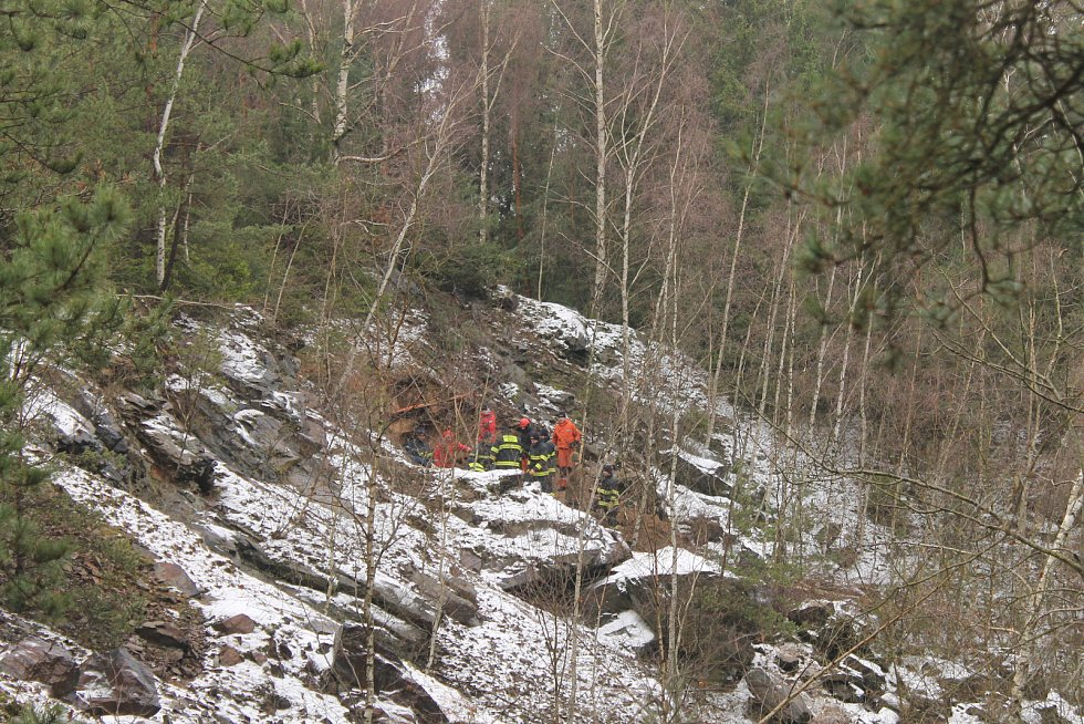 Záchranáři dělali vše pro to, aby jezevčíka mohli zachránit.