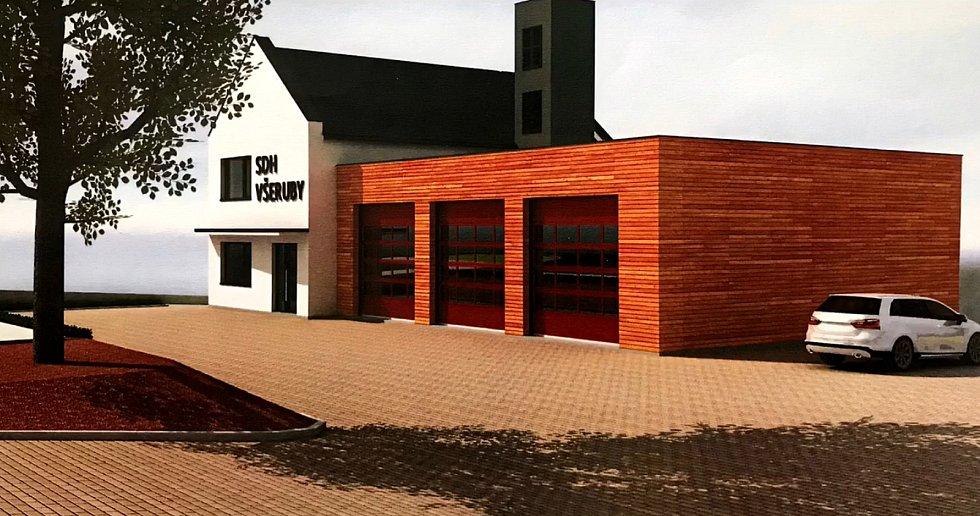 Hasiči ve Všerubech potřebují novou požární zbrojnici. Vedení městyse proto nechalo zpracovat studii.