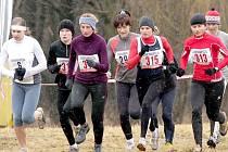 START HLUBOCKÉHO TESTU. Okresní běžci si vyzkoušeli trať při nedávném Hlubockém testu. Na snímku startují ženy, mezi kterými jsou i Kateřina Beroušková (vpravo s číslem 313), Miroslava Bendová (úplně vlevo) a Vendula Fronková (třetí zleva).