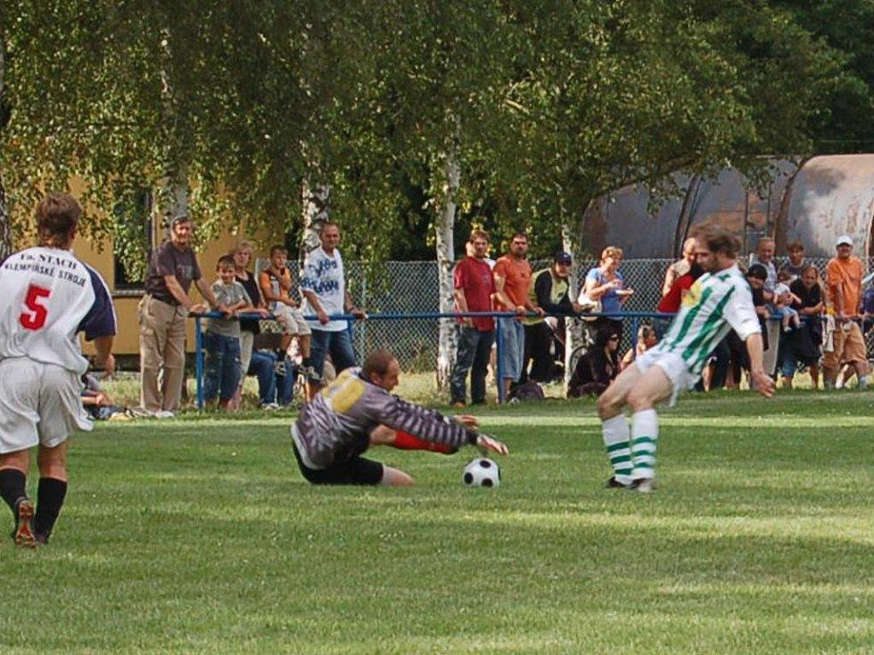 Jeden z gólů zápasu. Foto: Miroslava Vlčková