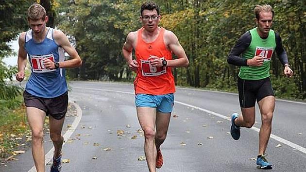 Tři nejlepší v závodě z Klenčí do Waldmünchenu. Zleva Jiří Voják, Martin Frei a Petr Kamic.