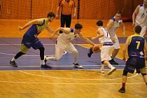 Minulý duel proti Slunetě Ústí nad Labem Jiskra Domažlice (bílé dresy) v březnu vyhrála.