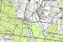 Mapa, v níž je vyznačeno malé, ale velmi vzácné území.