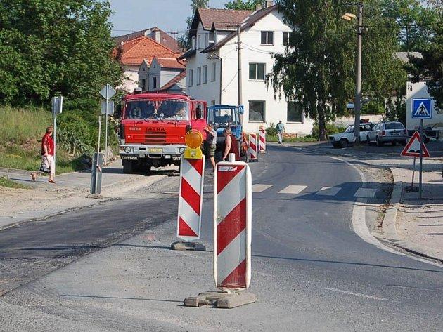 Projekt Čistá Radbuza si v Horšovském Týně vyžádal i některá dopravní omezení