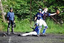 Z utkání baseballistů Wolfs Domažlice a Sharks Spálené Poříčí.