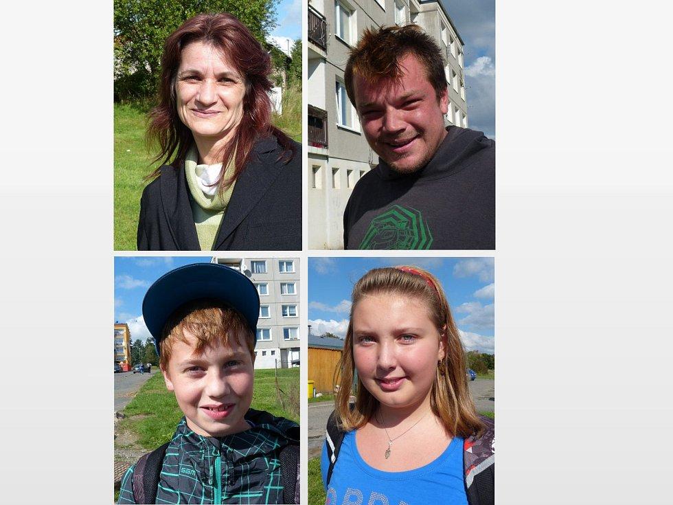 Anketa: Nahoře zleva Ingrid Lakotová, Jan Vasjuk, dole zleva Jakub Psůtka a Natálie Pangrácová.