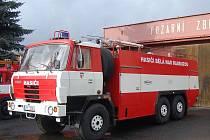 Hasičský cisternový vůz. Ilustrační foto