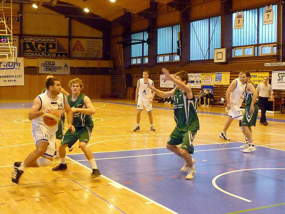 Z utkání basketbalistů Jiskry Domažlice.