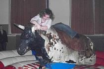 Chodské rodeo show v Chodově.