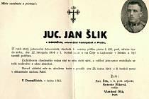 Parte Jana Šlika z Domažlic.