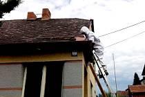 HORŠOVSKOTÝNŠTÍ hasiči likvidují vosí hnízdo v Přívozci.