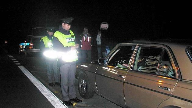 Ilustrační foto z policejních kontrol.