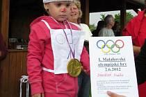 Dětská olympiáda ve Velkém Malahově.
