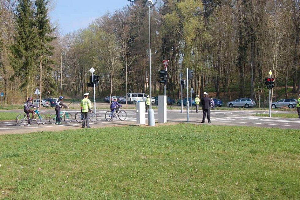 Otevření dopravního hřiště v Domažlicích a okresní dopravní soutěž.