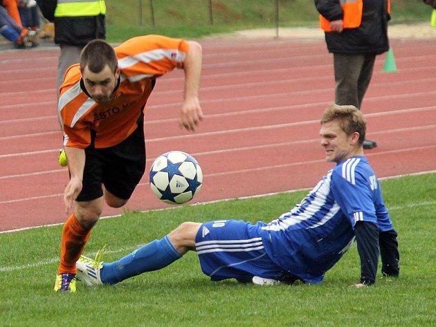 Fotbalisté Kolína brali na Střelnici všechny body.