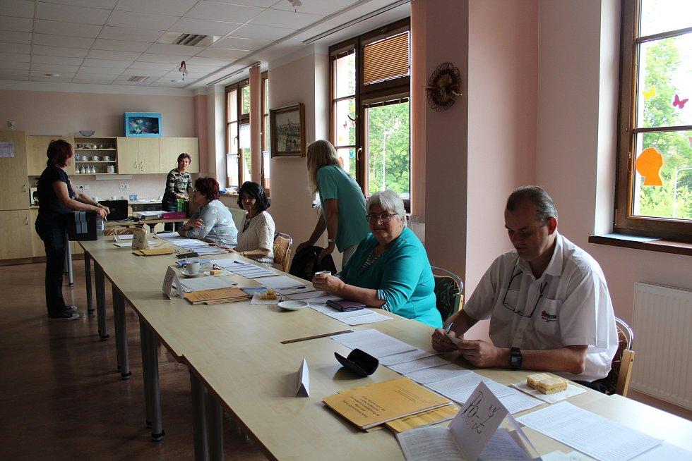 Volební komise okrsek číslo tři, Domažlice.