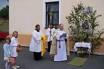 Slavnost Božího těla v Hostouni.