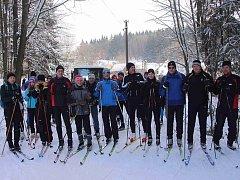 Z lyžařského přejezdu z Capartic do Gibachtu.