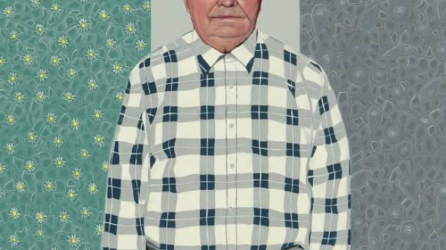 Realistický portrét Václava Lindauera, který vytvořil Václav Sika pro projekt Tvář Plzně.