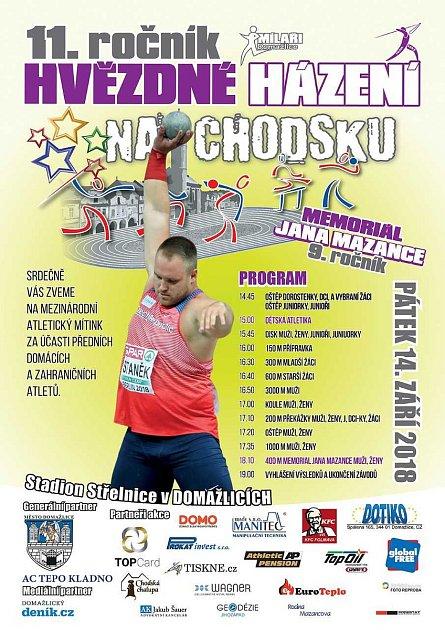 Atleti zakončí venkovní sezonu na mítinku Hvězdné házení na Chodsku
