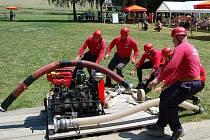 Družstvo domácích dobrovolných hasičů obsadilo na všekarských závodech třetí místo.