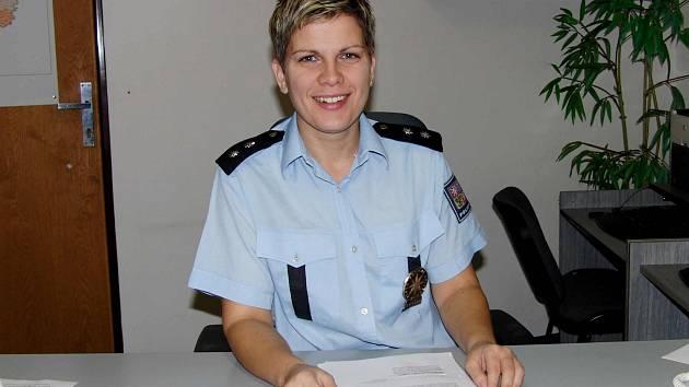 Domažlická policejní mluvčí Dagmar Brožová.