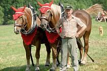 Matouš Dufek z Pasečnice vyhrál obě kategorie soutěže tažných koní.