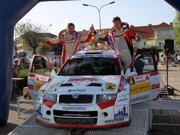 Karel Trněný s Christianem Doerrem na Rally Vyškov.