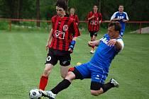 Z utkání fotbalistů 1. FC Horšovský Týn a Sokola Mrákov.