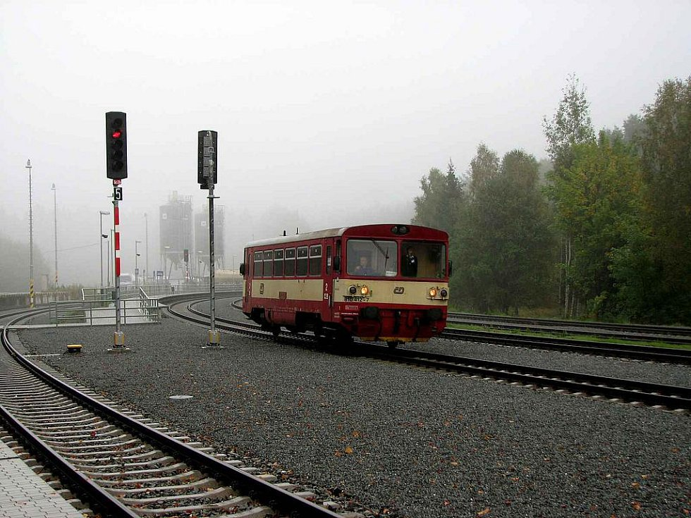 Českokubické nádraží po rekonstrukci v roce 2009..