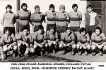 Jiskra Domažlice v sezoně 1978/79. Nahoře zleva: Dub, Vrba, Pelnář, Žambůrek, Jeřábek, Zvolánek, Fictum. Dole zleva: Váchal, Sokol, Šperl, Schröpfer, Stříbrný, Palovič, Hlaváč.
