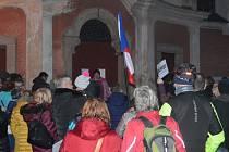 Na pondělní demonstraci podle organizátorů dorazilo asi 150 lidí.